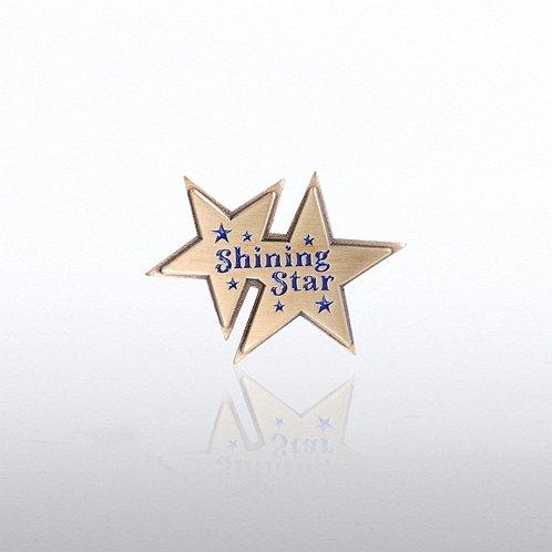 Lapel Pin - Double Shining Star