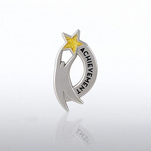 Glitter Lapel Pin - Star Achieve Guy