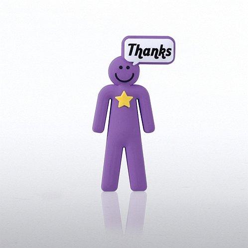 PVC Lapel Pin - Positive Praise Dude - Thanks