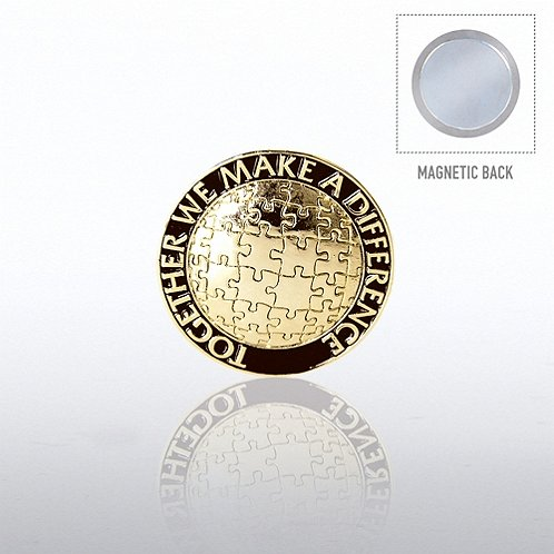 Lapel Pin Magnetic Back - Together We Make A Difference