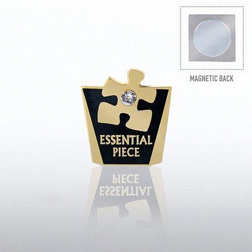 Lapel Pin Magnetic Back - Essential Piece w/ Gem