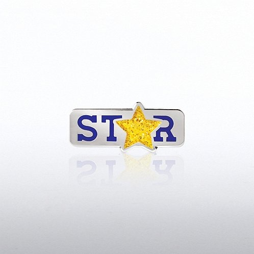 Lapel Pin - Glitter STAR