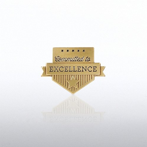 Lapel Pin - Committed to Excellence Banner