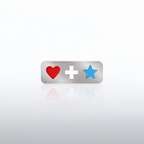 Lapel Pin - Heart Cross Star
