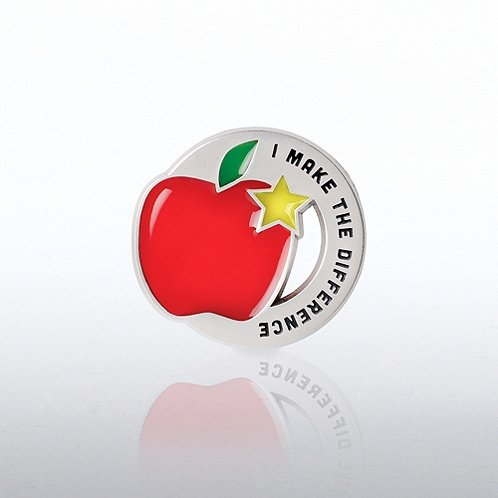 Lapel Pin - Translucent Apple