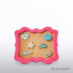 Corkboard Pin Collector - Magenta Ornate Frame