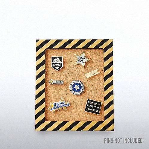 Corkboard Pin Collector - Gold Metallic Stripes