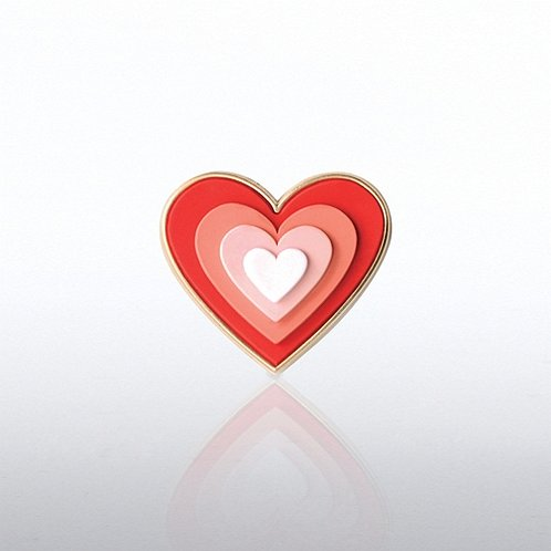 PVC Lapel Pin - Heart