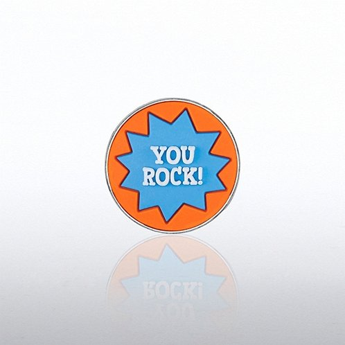 PVC Lapel Pin - YOU ROCK!