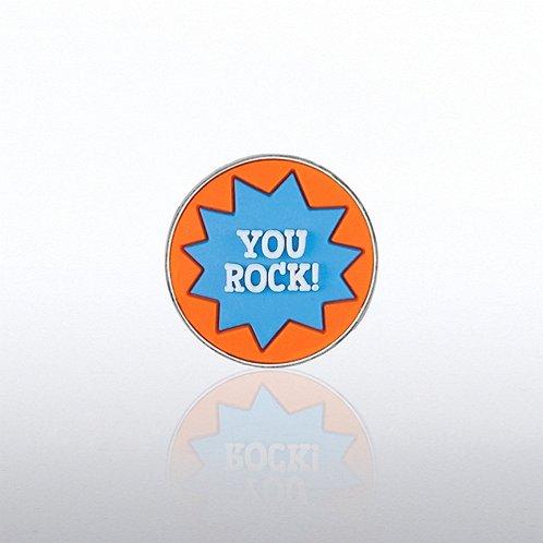 PVC Lapel Pin - YOU ROCK!
