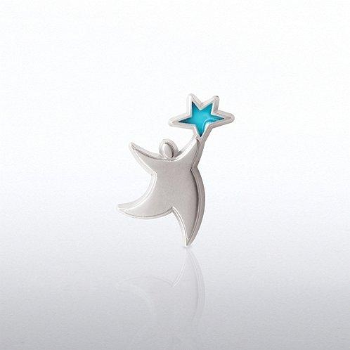 Lapel Pin - Translucent Star Guy