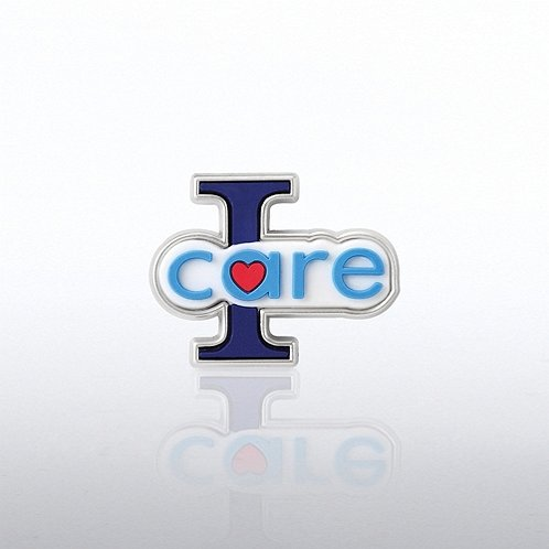 PVC Lapel Pin - I Care
