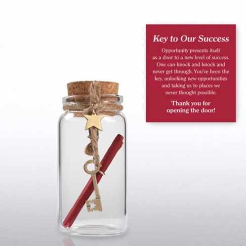 Message in a Bottle - Key to Success at Baudville.com