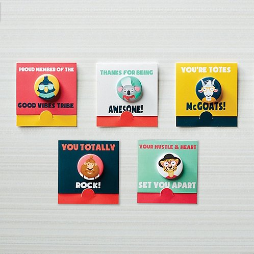 Bravo Button Pack - Hipster Friends