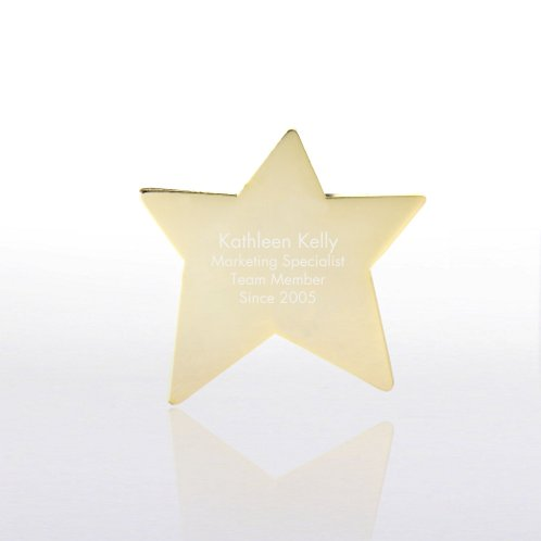 Personalized Lapel Pin - Gold Star
