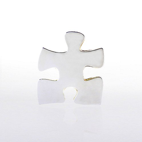 Lapel Pin - Essential Piece - Shiny Silver