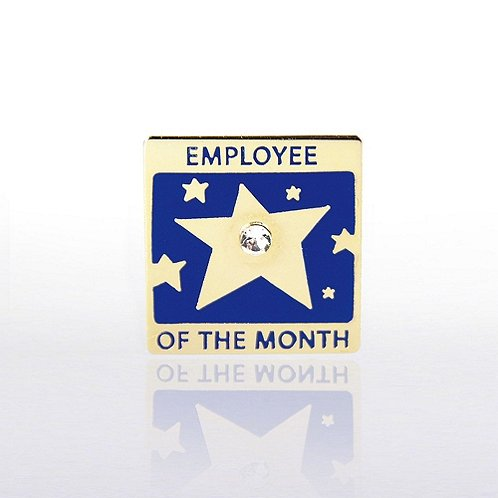 Lapel Pin - Employee of the Month w/ Gem