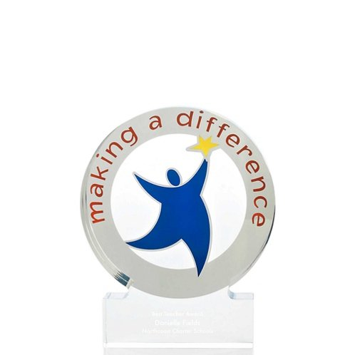 Desktop Acrylic Trophy - Making a Difference