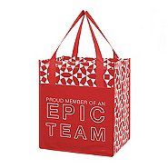 Value Grocery Tote - Proud Member Of An Epic Team - RED