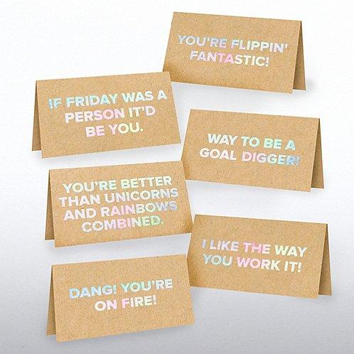 Kraft Pocket Praise - Fun Flattery in Iridescent Foil