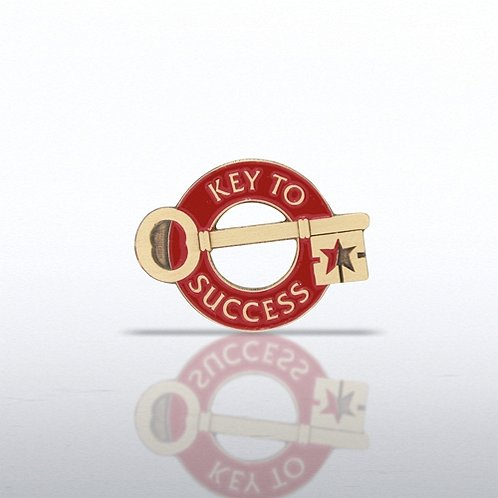 Lapel Pin - Key to Success - Round