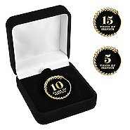 Anniversary Lapel Pin - Years of Service Black and Gold
