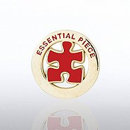 Lapel Pin - Essential Piece - Gold Round