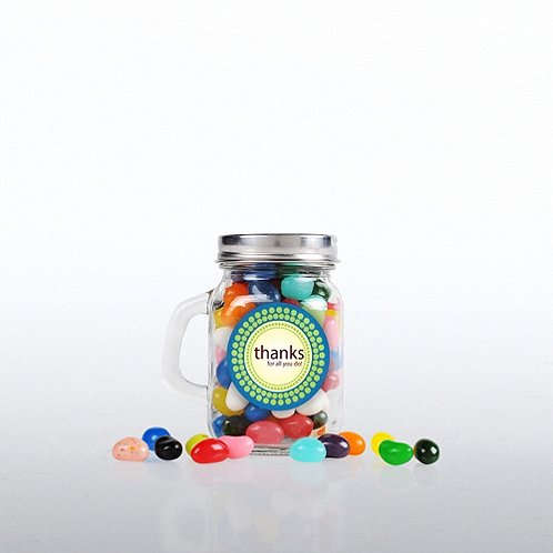 Mini Glass Candy Mason Jar - Thanks for all you do!