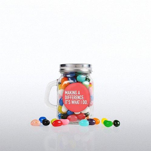 Mini Glass Candy Mason Jar - Making a Difference