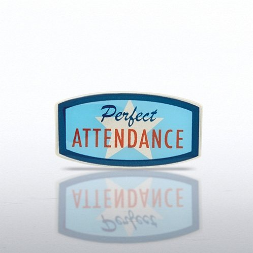 Lapel Pin - Perfect Attendance - Star