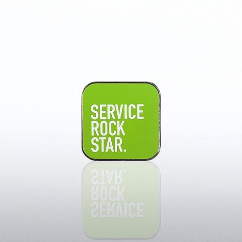 Lapel Pin - Customer Service - Service Rock Star