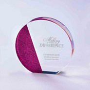 Full of Luster Acrylic Glitter Accented Trophy - Circle