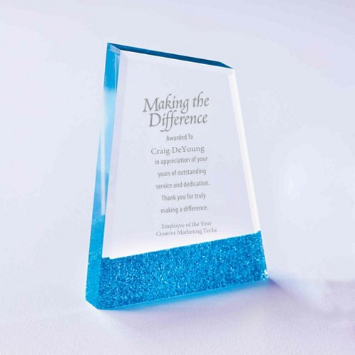 Full of Luster Acrylic Glitter Accented Trophy - Apex