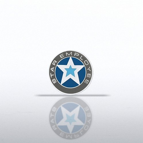 Lapel Pin - Star Employee - Round
