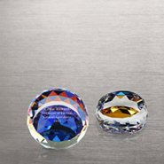 Vibrant Luminary Crystal Collection -Small Round Paperweight