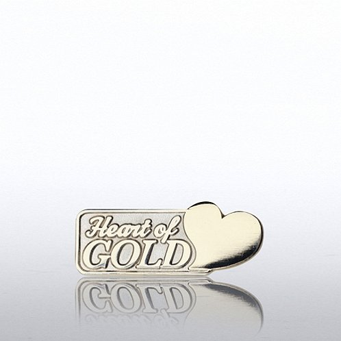 Lapel Pin - Heart of Gold