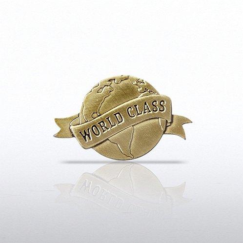 Lapel Pin - World Class - Globe