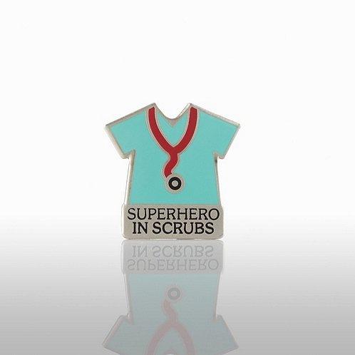 Lapel Pin - Superhero in Scrubs