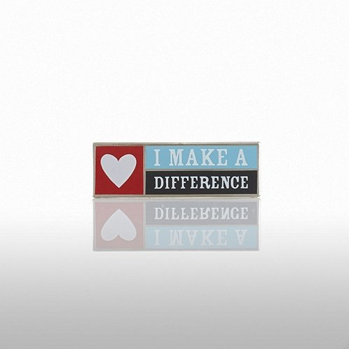 Lapel Pin - I Make a Difference - Heart