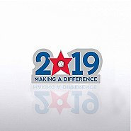 Lapel Pin - 2019: Making a Difference with Gem