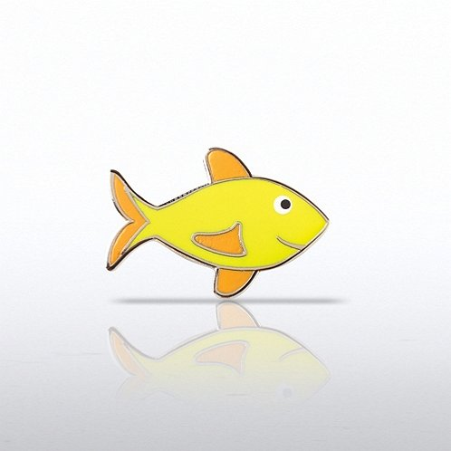 Lapel Pin - Attitude is Everything Fish