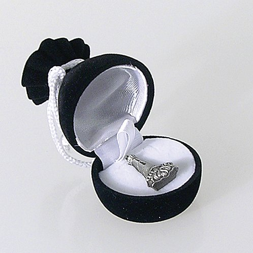Gem Bag Lapel Pin Box - Black