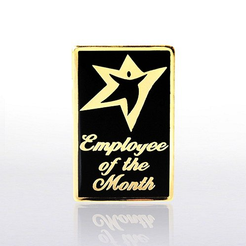 Lapel Pin - Employee of the Month - Black and Gold