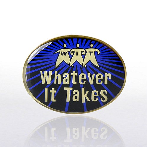 Lapel Pin - Whatever It Takes - Multi-Color