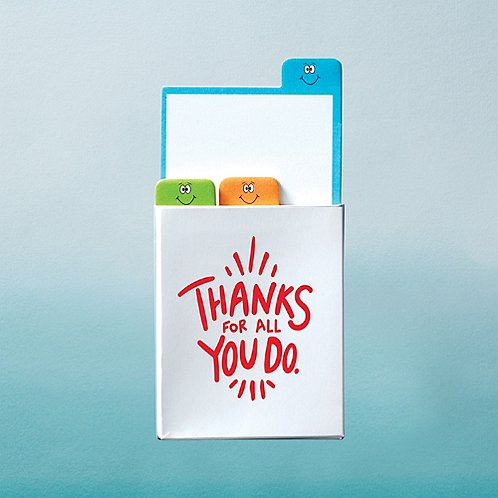 Value Emoti Notepad Set - Thanks For All You Do