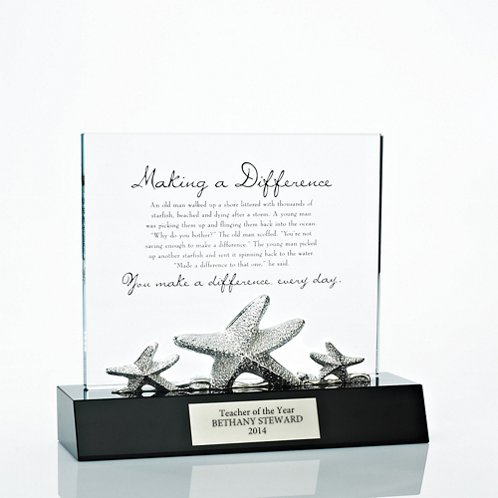 Crystal Character Trophy - Starfish