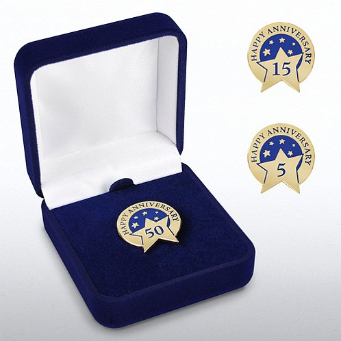 Anniversary Lapel Pin - Happy Anniversary
