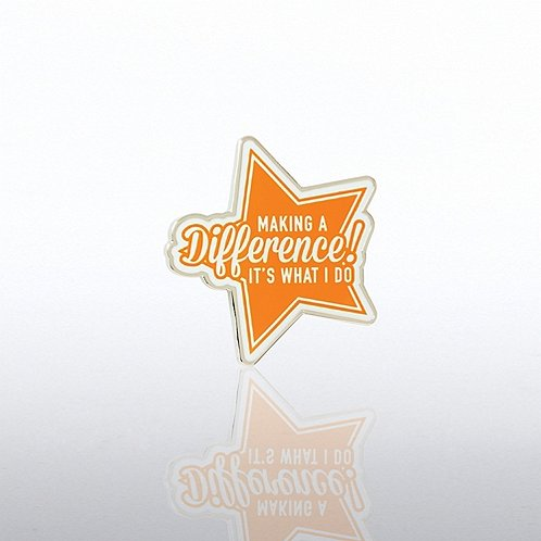 Lapel Pin - Making a Difference Orange Star