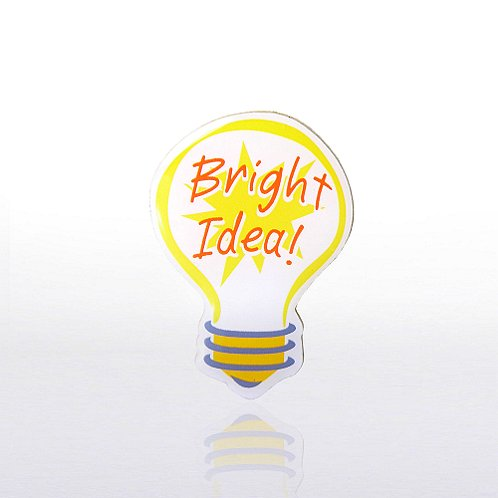 Lapel Pin - Bright Idea - Multi Color