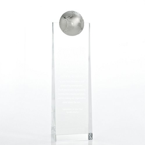 Crystalline Tower Trophy - Globe